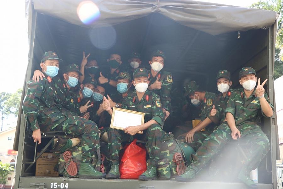 Hơn 200 học viên sĩ quan Lục quân 2 hoàn thành nhiệm vụ hỗ trợ phòng, chống dịch tại thành phố Hồ Chí Minh
