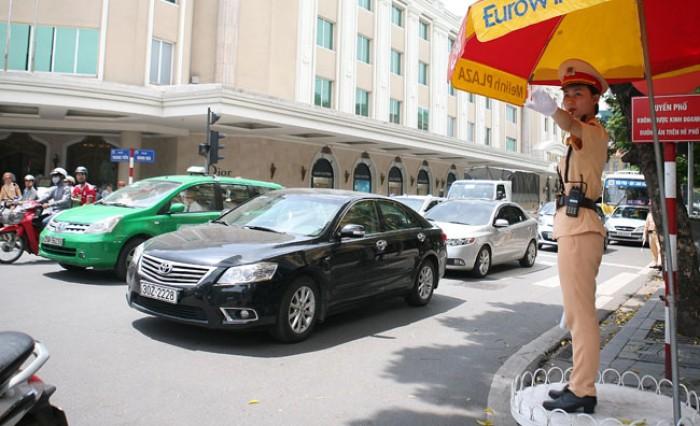 Công an TP. Hà Nội: Tích cực phân luồng giao thông phục vụ Đại hội Đảng
