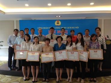 Công đoàn Tổng Công ty Du lịch Hà Nội: Biểu dương  điển hình tiên tiến