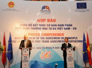 Việt Nam - EU  kết thúc đàm phán FTA