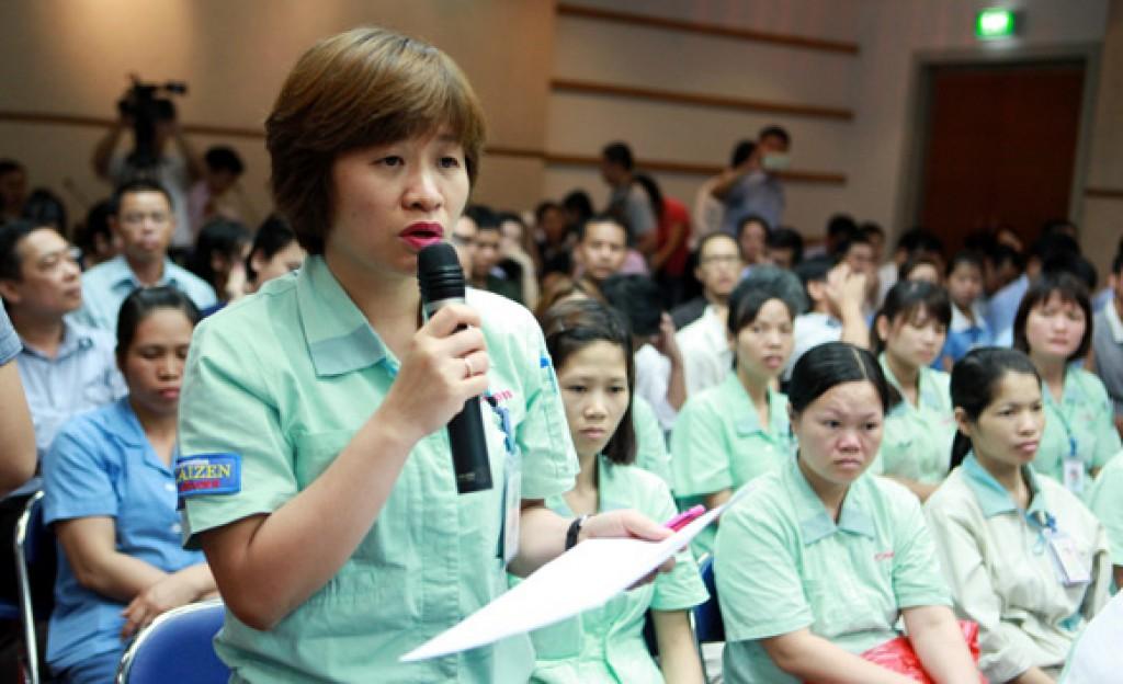 UBND TP.Hà Nội: Chỉ đạo giải quyết  các kiến nghị của công nhân