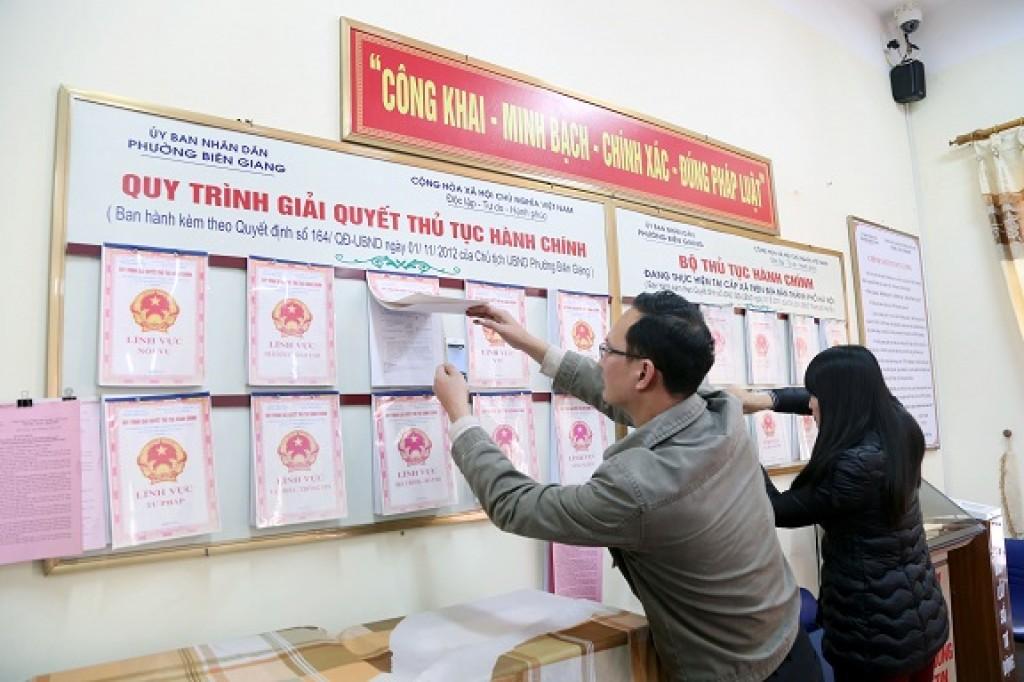 UBND Quận Hà Đông: Kiện toàn cán bộ tại bộ phận một cửa