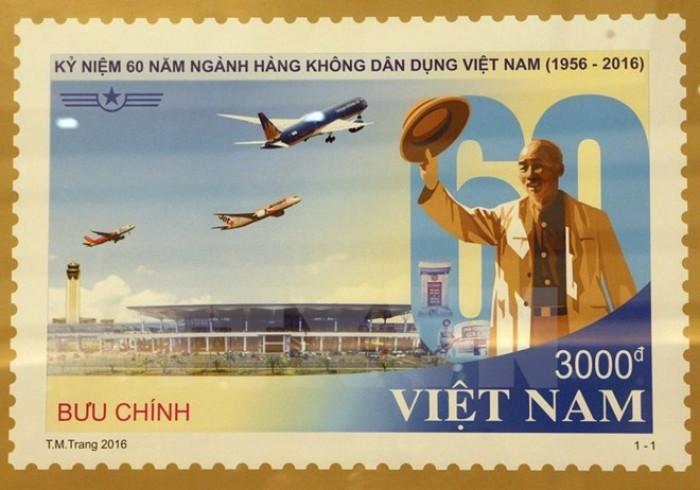 Phát hành bộ tem kỷ niệm 60 năm Ngành Hàng không Dân dụng Việt Nam