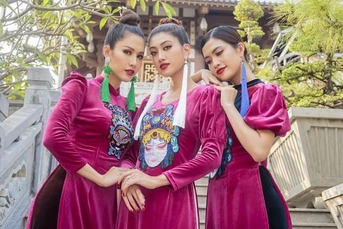 """Hoa hậu Phan Thu Quyên duyên dáng trong áo dài """"Dáng Việt muôn nơi"""""""