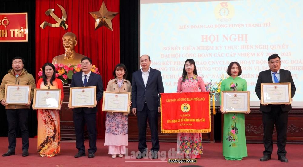 Liên đoàn lao động huyện Thanh Trì tổng kết hoạt động Công đoàn năm 2020