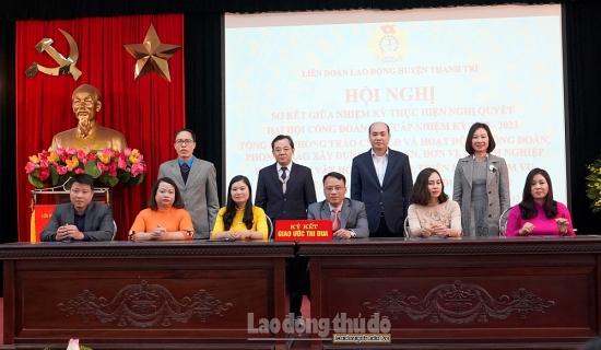 Liên đoàn Lao động huyện Thanh Trì phát động phong trào thi đua năm 2021