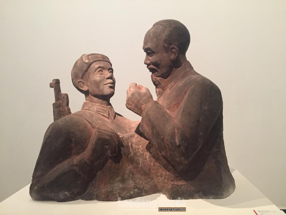 Ấn tượng những tác phẩm điêu khắc ca ngợi Đảng, Bác Hồ, mùa Xuân, đất nước