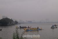 Clip: Kịch tính cuộc đua thuyền Rồng tại Hồ Tây