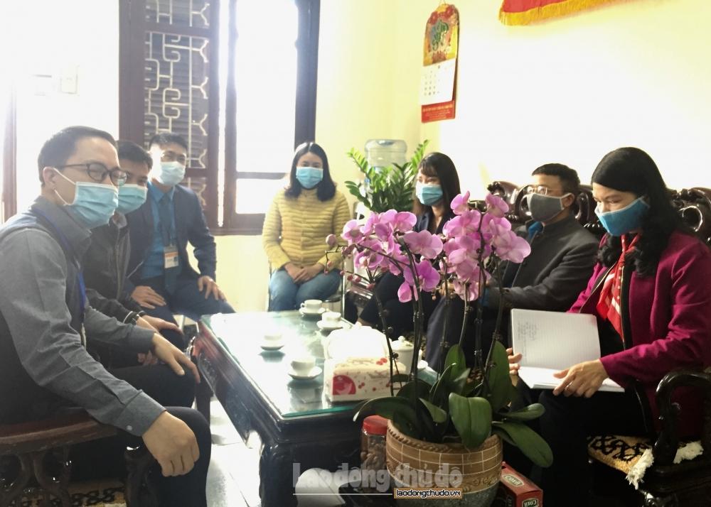 Huyện Thanh Trì: Người lao động quay trở lại làm việc đều khai báo y tế và tuân thủ phòng dịch