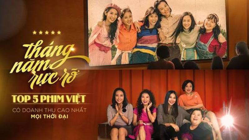 Phim 'Tháng năm rực rỡ' thu về 84 tỷ, lọt top 5 phim Việt có doanh thu cao nhất