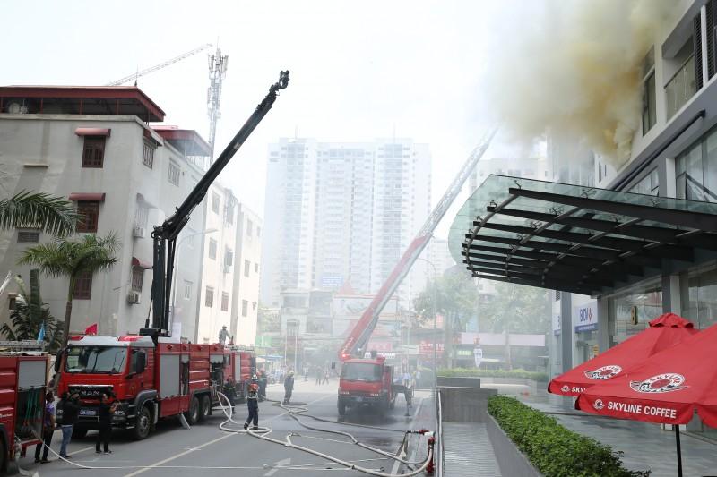 Diễn tập Phòng cháy chữa cháy với nhà mô hình tại chung cư Imperia Garden