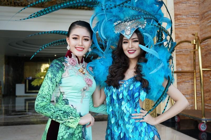 Á hậu Đại Dương và Hoa khôi Hải Yến rực rỡ trong sắc màu của lễ hội Carnaval