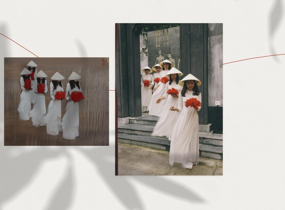 Áo dài tôn vinh vẻ đẹp của nữ cán bộ công chức viên chức ngành văn hóa Thủ đô