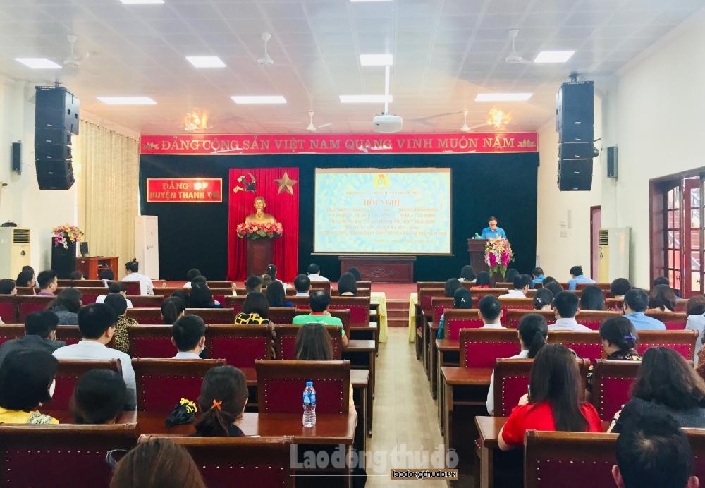 """Liên đoàn Lao động huyện Thanh Trì phát động """"Tháng công nhân"""" năm 2021"""