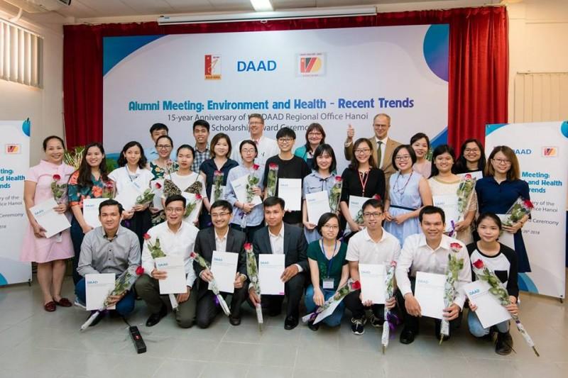 Các học bổng viên người Việt nhận học bổng DAAD chương trình 2018 (nguồn: DAAD)