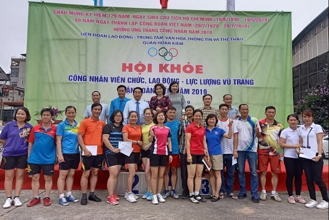 Bế mạc Hội khỏe CNVCLĐ và lực lượng vũ trang quận Hoàn Kiếm