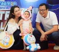 Gia đình sao Việt nô nức dự công chiếu 'Doraemon: Nobita và mặt trăng phiêu lưu ký'
