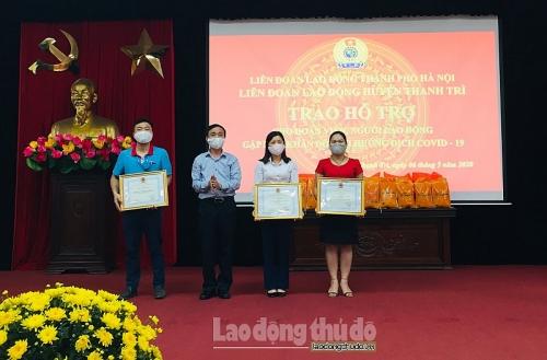 Hỗ trợ người lao động huyện Thanh Trì bị ảnh hưởng bởi dịch Covid-19