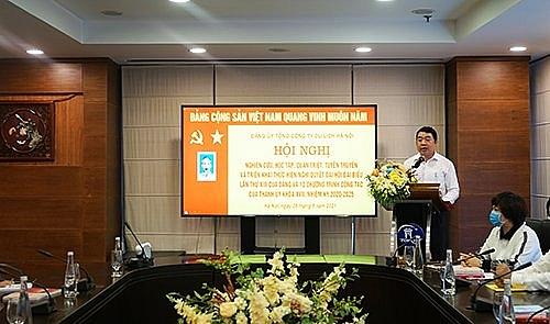 Hội nghị trực tuyến học tập, quán triệt Nghị quyết Đại hội XIII của Đảng