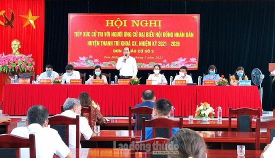 Ứng cử viên đại biểu Hội đồng nhân dân huyện Thanh Trì hoàn thành tiếp xúc cử tri