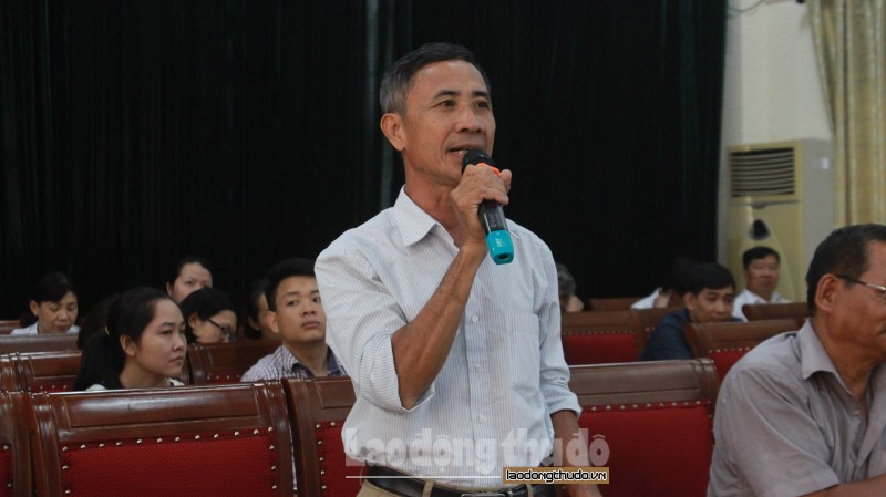 Tiếp xúc cử tri huyện Thanh Trì trước Kỳ họp thứ 9 HĐND khóa XV