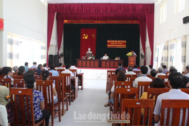 Đại biểu HĐND Thành phố tiếp xúc cử tri huyện Thường Tín