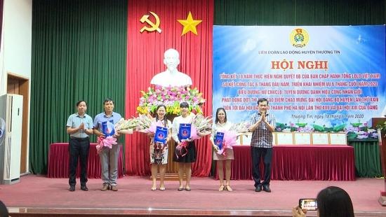 Liên đoàn Lao động huyện Thường Tín tổng kết 10 năm thực hiện Nghị quyết 6b