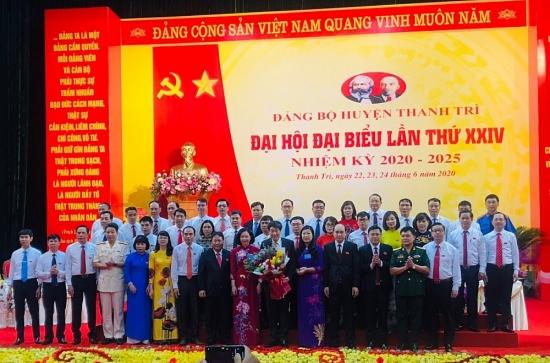 Đồng chí Lê Tiến Nhật tái đắc cử Bí thư Huyện ủy Thanh Trì nhiệm kỳ 2020 – 2025