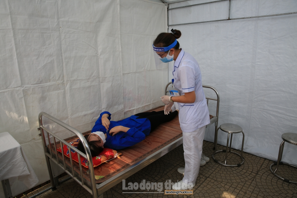 Huyện Thanh Trì diễn tập đảm bảo y tế, phòng, chống dịch cho kỳ thi tuyển sinh vào lớp 10
