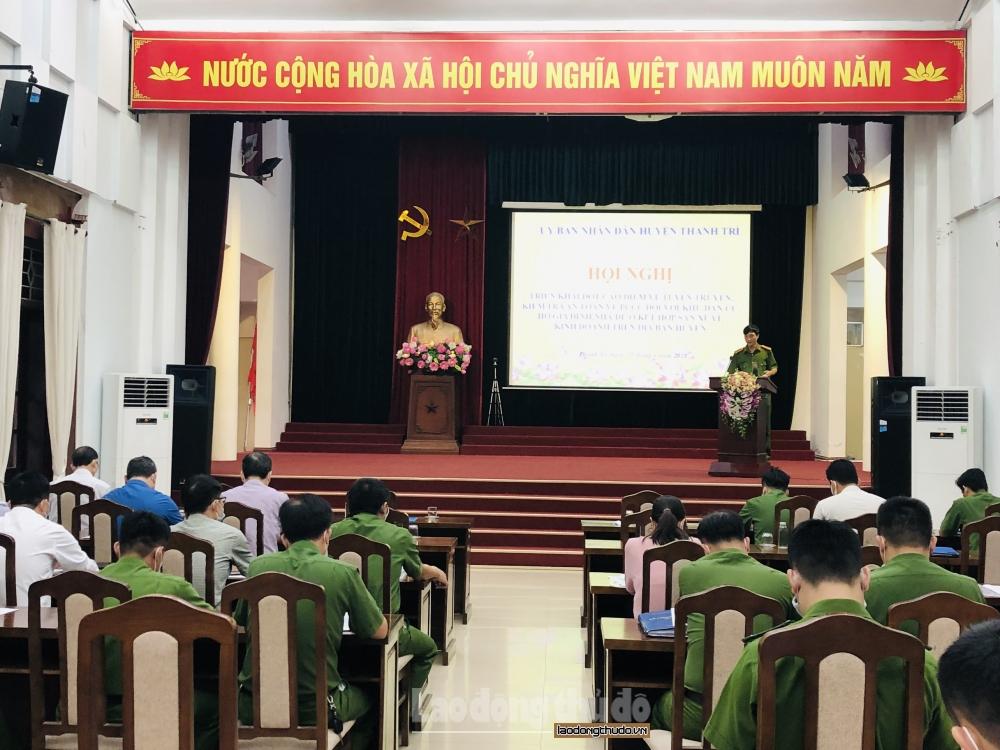 Huyện Thanh Trì phấn đấu 100% hộ ký cam kết về phòng cháy, chữa cháy
