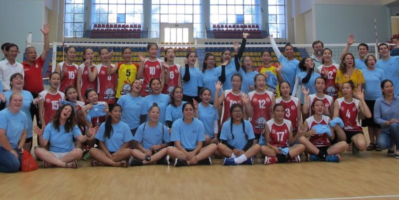 Giao lưu bóng chuyền nữ trẻ Hoa Kỳ - Việt Nam
