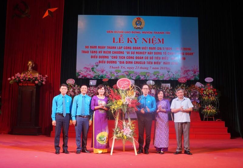 LĐLĐ huyện Thanh Trì kỷ niệm 90 năm Ngày thành lập Công đoàn Việt Nam