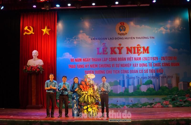 LĐLĐ huyện Thường Tín kỷ niệm 90 năm thành lập Công đoàn Việt Nam