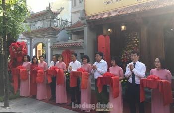 Gắn biển công trình Đình Nam Hương chào mừng Đại hội đảng bộ quận Hoàn Kiếm lần thứ XXVI
