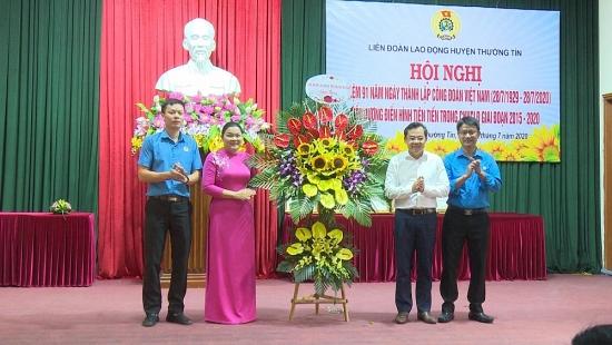 Huyện Thường Tín kỷ niệm 91 năm Ngày thành lập Công đoàn Việt Nam