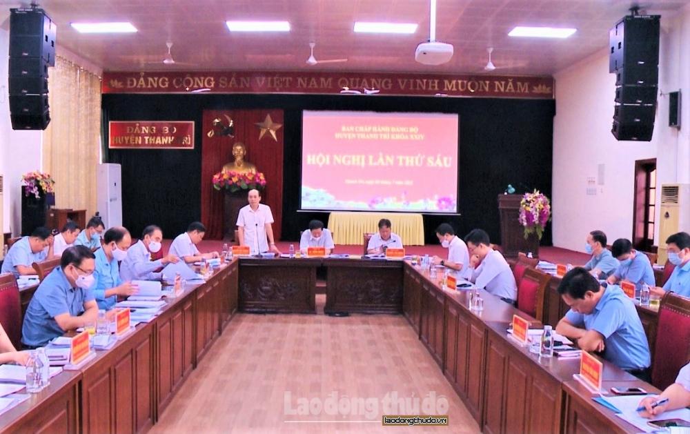 """Huyện Thanh Trì tiếp tục thực hiện hiệu quả """"nhiệm vụ kép"""""""