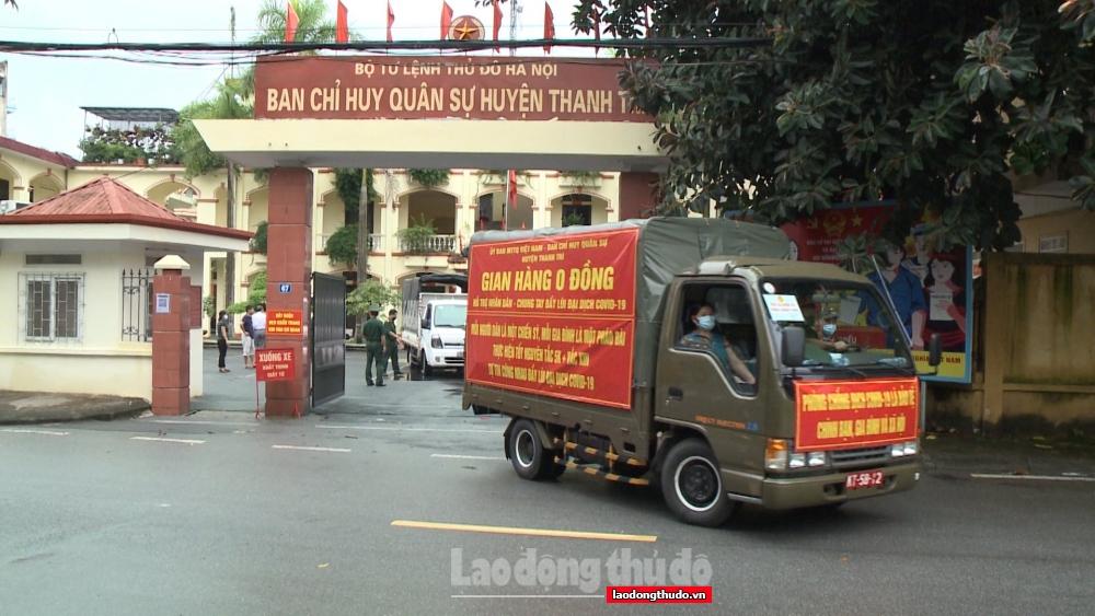 """Thanh Trì mở cửa """"Gian hàng 0 đồng'' hỗ trợ các gia đình khó khăn do dịch Covid-19"""