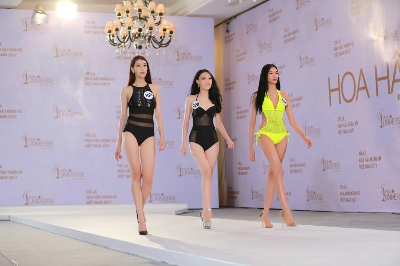 Ngất ngây trước vẻ đẹp của các thí sinh Hoa hậu Hoàn vũ Việt Nam trong trang phục áo tắm