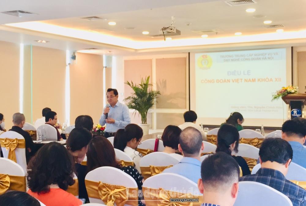 Công đoàn Tổng Công ty Du lịch Hà Nội tổ chức Hội nghị tập huấn Điều lệ Công đoàn
