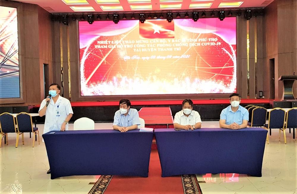 Thanh Trì đón đoàn y, bác sĩ tỉnh Phú Thọ đến hỗ trợ công tác phòng, chống dịch Covid-19