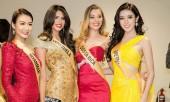 Các thí sinh quyến rũ trong buổi ra mắt cuộc thi 'Hoa hậu hòa bình thế giới 2017'