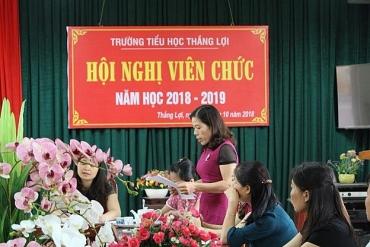 Trường Tiểu học Thắng Lợi tổ chức Hội nghị CBVC năm học 2018-2019