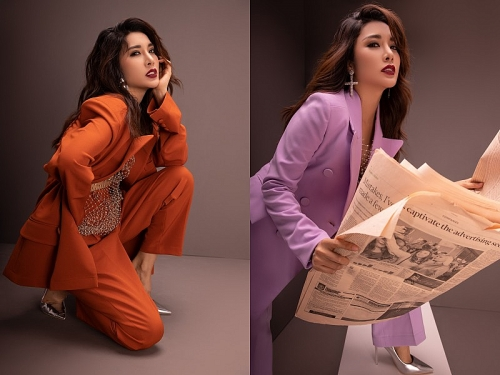 Á hậu Yan My nổi bật với gam màu xu hướng Thu - Đông 2019