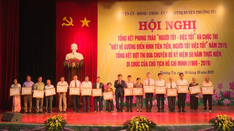 Huyện Thường Tín tổng kết phong trào