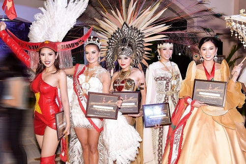 Dương Yến Nhung lọt top 5 trang phục truyền thống nổi bật Miss Tourism Queen Worldwide 2019