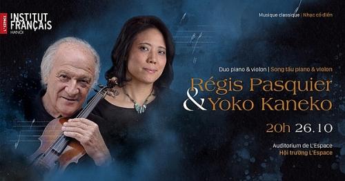 Hai nghệ sỹ xuất sắc của Nhật Bản và Pháp trình diễn violon và piano tại Hà Nội