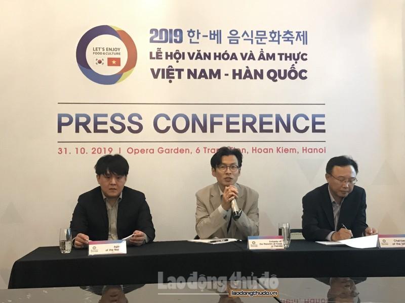 Công bố Lễ hội Văn hóa ẩm thực Việt Nam - Hàn Quốc năm 2019