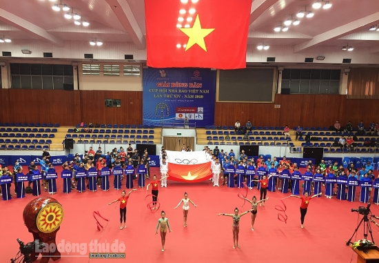 """Khai mạc """"Giải bóng bàn Cúp Hội Nhà báo Việt Nam lần thứ XIV - 2020"""""""
