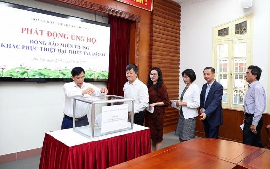 Công đoàn Bộ Văn hóa, Thể thao và Du lịch phát động ủng hộ đồng bào miền Trung