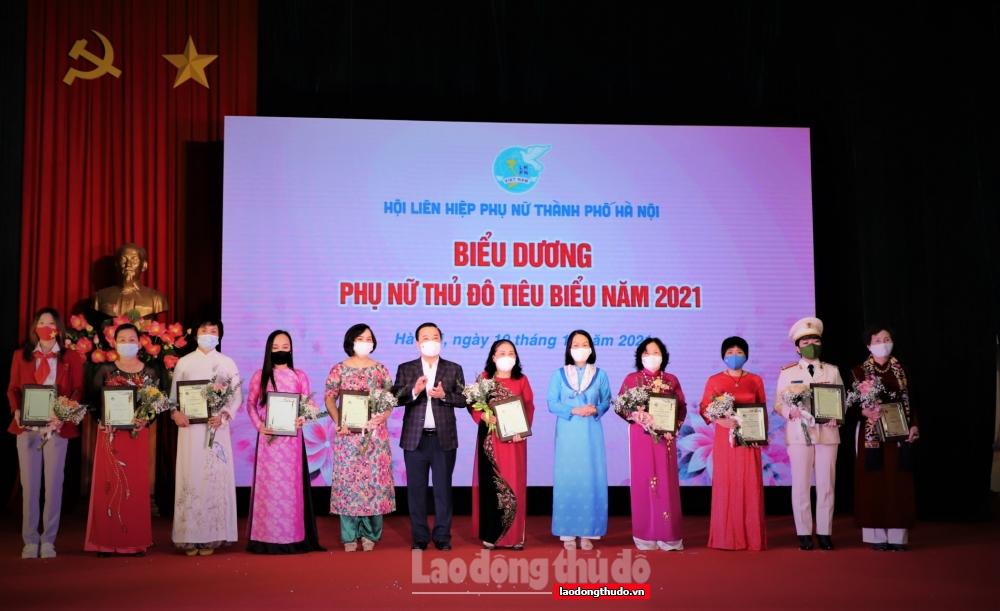 Vinh danh 10 gương mặt Phụ nữ Thủ đô tiêu biểu năm 2021